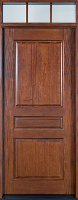 Modern Mahogany Wood Front Door - Single - DB-611G CST