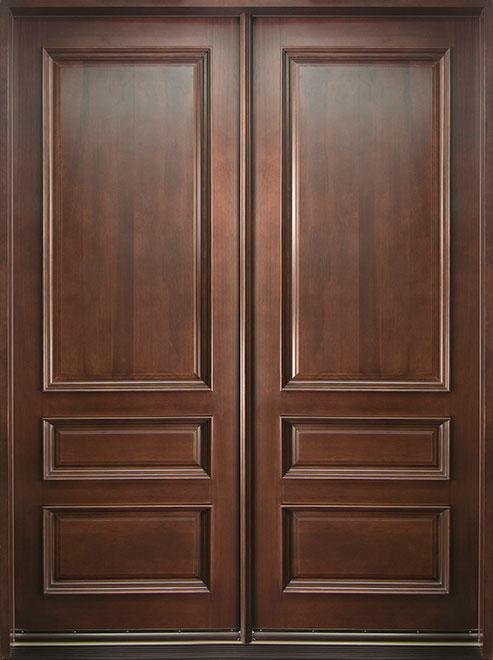 Classic Mahogany Wood Front Door - Double - DB-611 DD CST