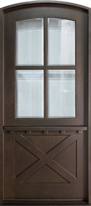 Craftsman Mahogany Wood Front Door - Single - 652W CST