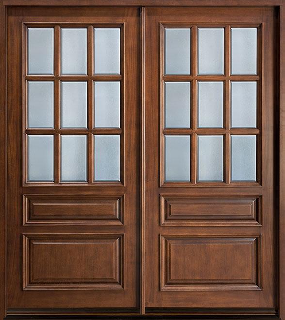 Classic Mahogany Wood Front Door - Double - DB-652 DD  CST