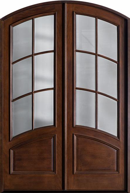 Classic Mahogany Wood Front Door - Double - DB-655A DD CST