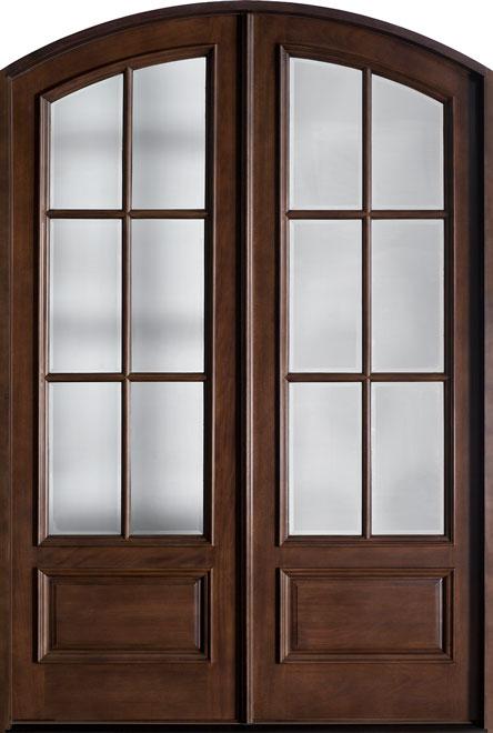 Classic Mahogany Wood Front Door - Double - DB-655B DD CST