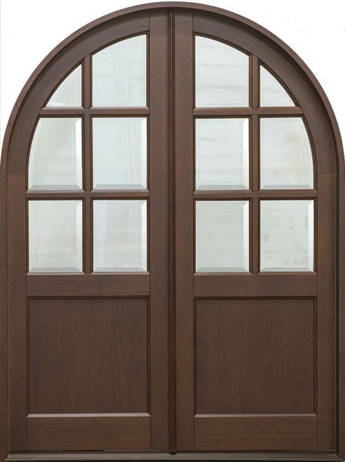 Classic Mahogany Wood Front Door - Double - DB-655R DD CST