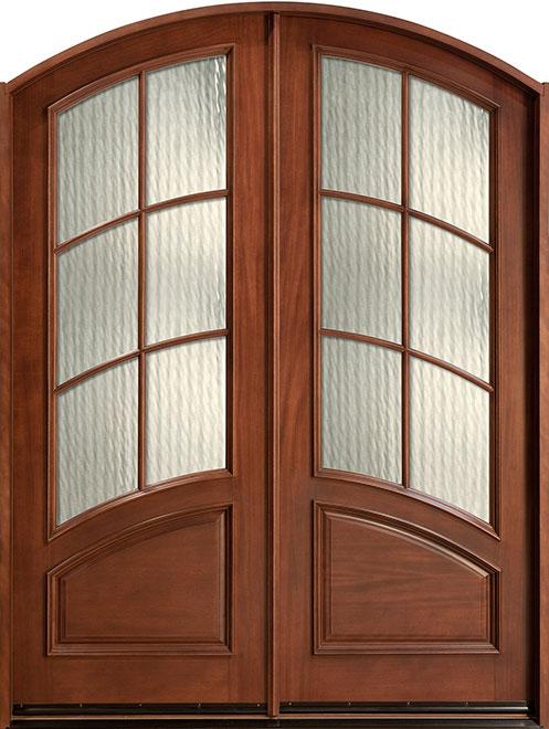 Classic Mahogany Wood Front Door - Double - DB-655 DD CST