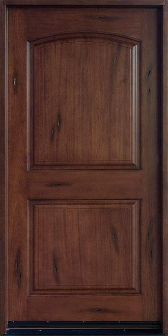 Rustic Mahogany Wood Front Door - Single - DB-701P  CST