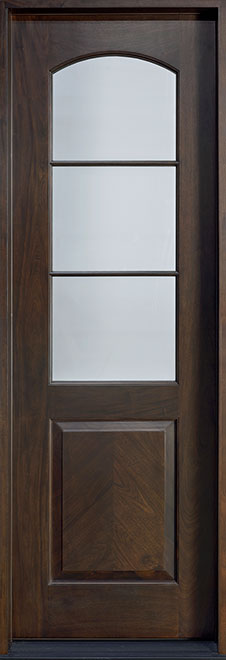 Classic Mahogany Wood Front Door - Single - DB-701T CST