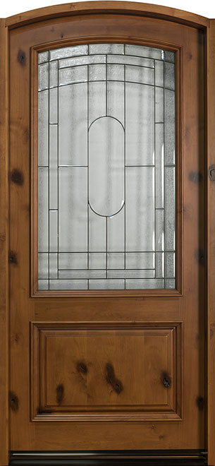 Classic Knotty Alder Wood Front Door - Single - DB-701W CST