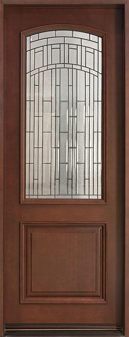 Classic Mahogany Wood Front Door - Single - DB-701 CST