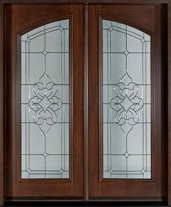 Classic Mahogany Wood Front Door - Double - DB-710 DD CST