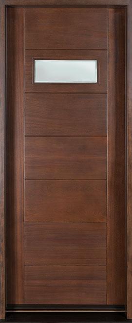 Modern Mahogany Wood Front Door - Single - DB-711G CST