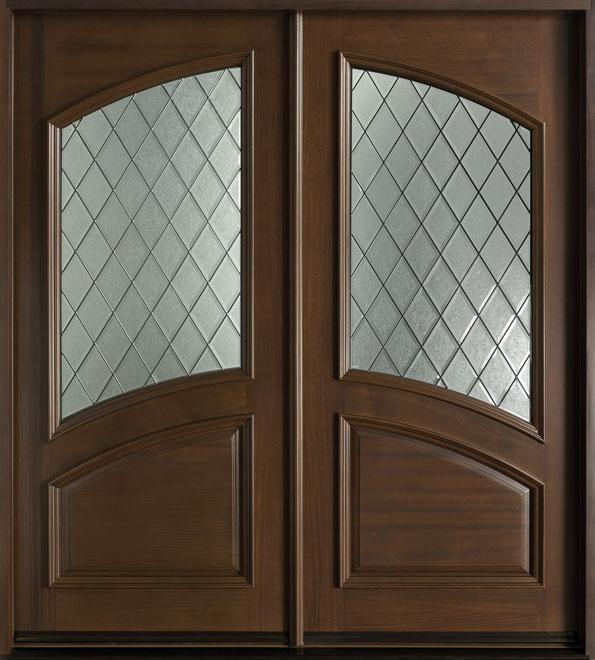 Diamond Mahogany Wood Front Door - Double - DB-755S DD CST