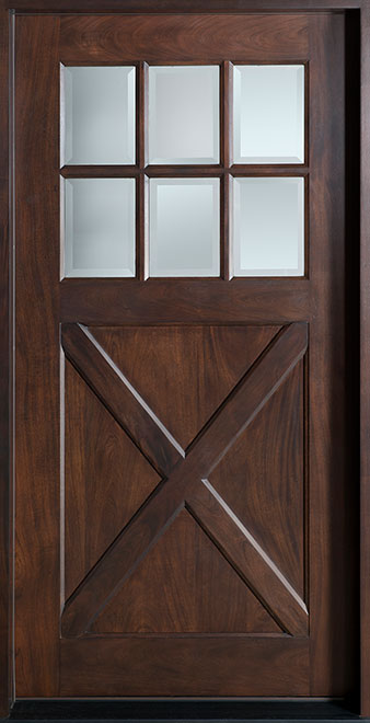 Classic Mahogany Wood Front Door - Single - DB-758S CST