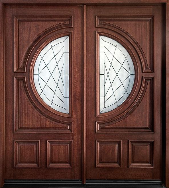Classic Mahogany Wood Front Door - Double - DB-785S DD CST