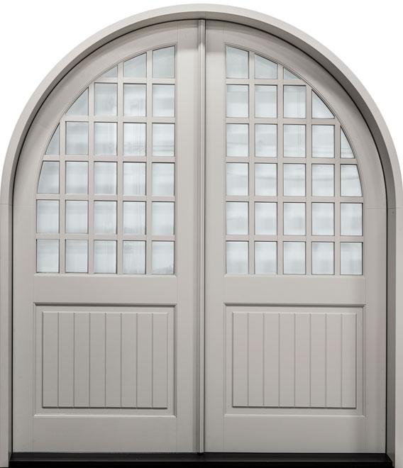 Classic Mahogany Wood Front Door - Double - DB-801PW DD CST