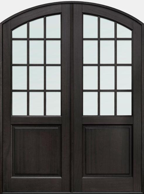 Classic Mahogany Wood Front Door - Double - DB-801P DD CST