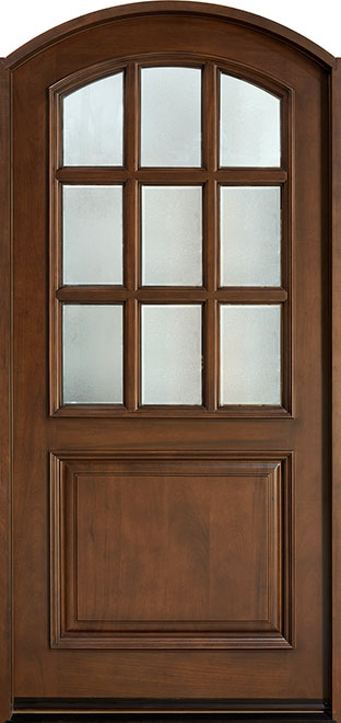 Classic Mahogany Wood Front Door - Single - DB-801 CST
