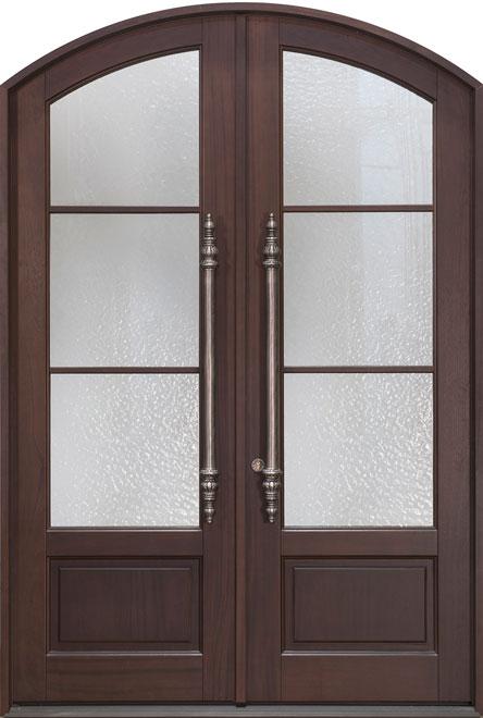 Classic Mahogany Wood Front Door - Double - DB-823A-DD CST
