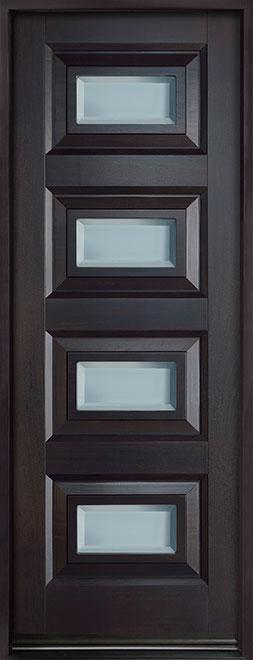 Modern Mahogany Wood Front Door - Single - DB-825PT CST