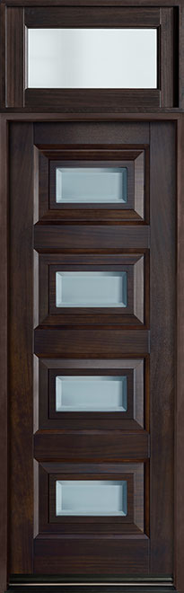 Modern Mahogany Wood Front Door - Single - DB-825PT TR-EN3 CST