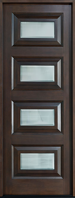 Modern Mahogany Wood Front Door - Single - DB-825 CST