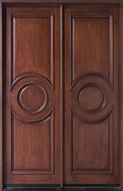 Classic Mahogany Wood Front Door - Double - DB-875N DD CST