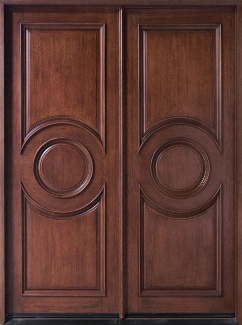 Classic Mahogany Wood Front Door - Double - DB-875 DD CST