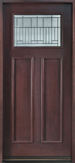 Classic Mahogany Wood Front Door - Single - DB-901 CST
