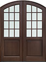Wood Front Double Doors in-Stock