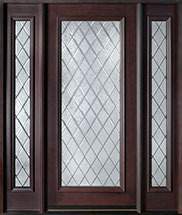 Diamond Mahogany Wood Front Door  - GD-001DG 2SL
