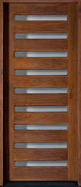 Modern American Walnut Wood Front Door  - GD-004W CST