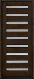 Modern Mahogany Wood Front Door  - GD-004W CST