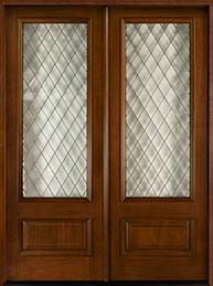 Diamond Mahogany Wood Front Door  - GD-101 DD  CST