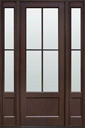 Classic Mahogany Wood Front Door  - GD-104PT 2SL CST