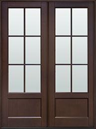 Classic Mahogany Wood Front Door  - GD-106P DD CST
