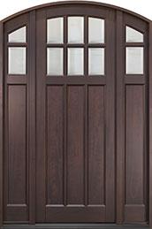Classic Mahogany Wood Front Door  - GD-112PTA 2SL CST