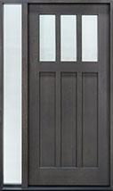 Classic Rift Cut Oak Wood Front Door  - GD-114PS 1SL CST
