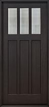 Craftsman Mahogany Wood Front Door  - GD-114PS CST