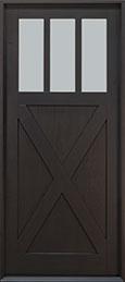 Classic Mahogany Wood Front Door  - GD-114PW CST