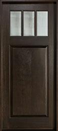 Classic Mahogany Wood Front Door  - GD-114W  CST