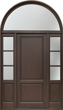 Classic Mahogany Wood Front Door  - GD-202PW 2SL TR CST