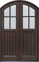 Classic Rift-Cut Oak Wood Front Door  - GD-211P DD CST