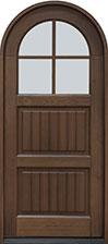 Classic Mahogany Wood Front Door  - GD-245PR SDL  CST