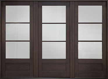 Classic Mahogany Wood Front Door  - GD-300PW 2SL CST