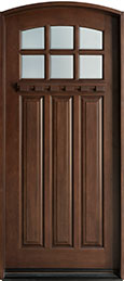 Craftsman Cherry Wood Front Door  - GD-311R CST
