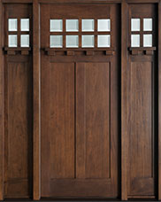 Craftsman Mahogany Wood Front Door  - GD-311 2SL CST