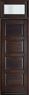 Classic Mahogany Wood Front Door  - GD-4000PT TR EN3 CST