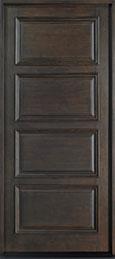 Classic Mahogany Wood Front Door  - GD-4000 CST