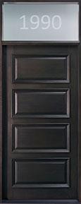 Classic Mahogany Wood Front Door  - GD-4000 TR CST