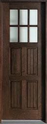 Classic Mahogany Wood Front Door  - GD-411T CST