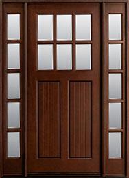 Classic Mahogany Wood Front Door  - GD-411W 2SL CST